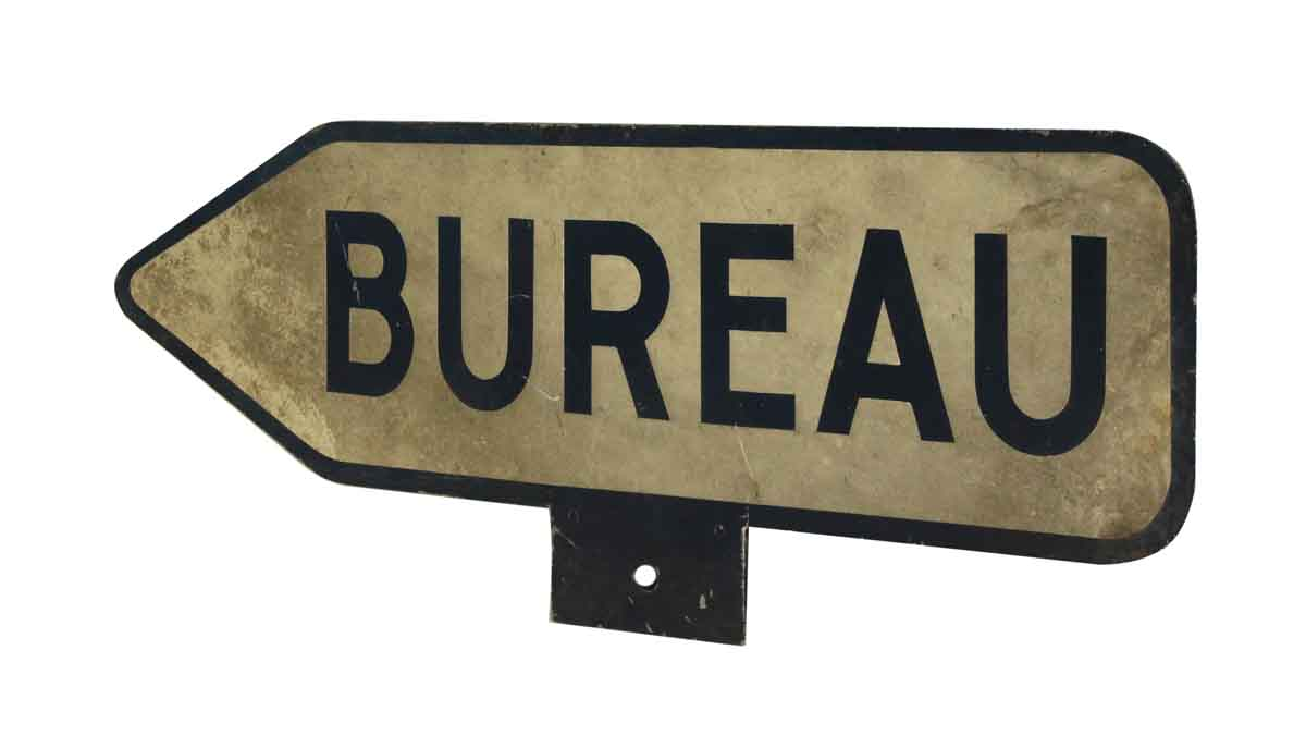 Bureau french sign olde good things for Bureau french
