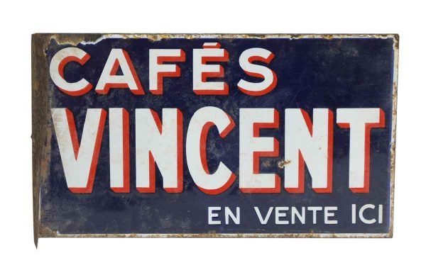 French Cafe Vincent Sign