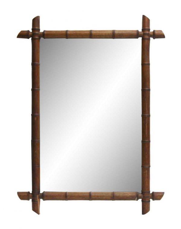 Bamboo Framed Vintage Mirror
