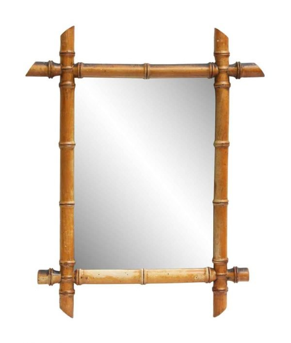 Small Mirror with Bamboo Frame