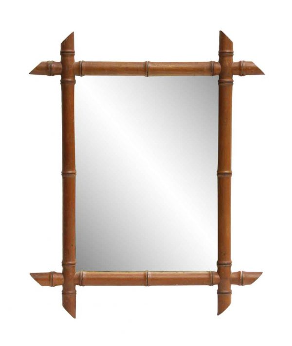 Small Bamboo Framed Mirror