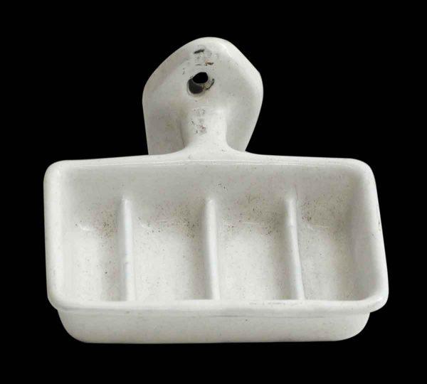 White Porcelain Wall Mount Soap Holder