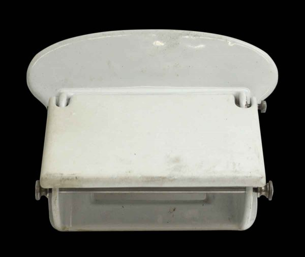 Wall Mount White Porcelain Toilet Paper Holder
