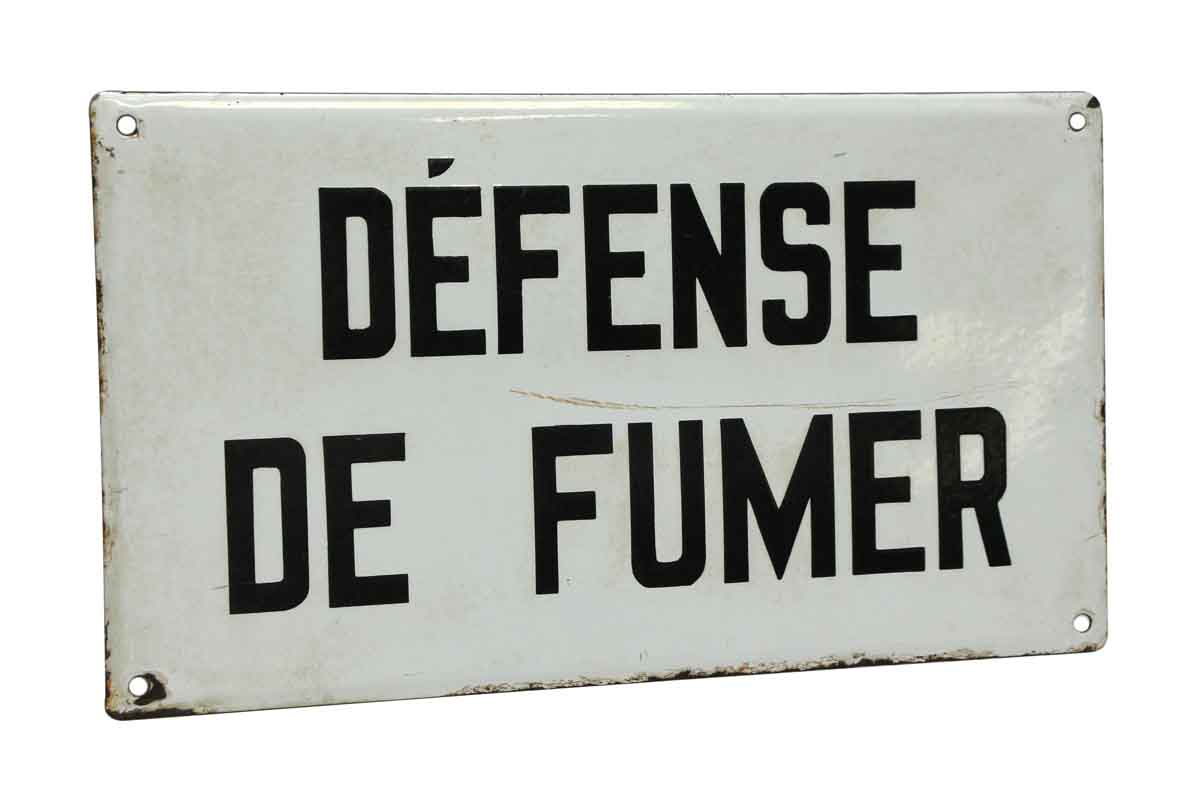 defense de fumer sign olde good things. Black Bedroom Furniture Sets. Home Design Ideas