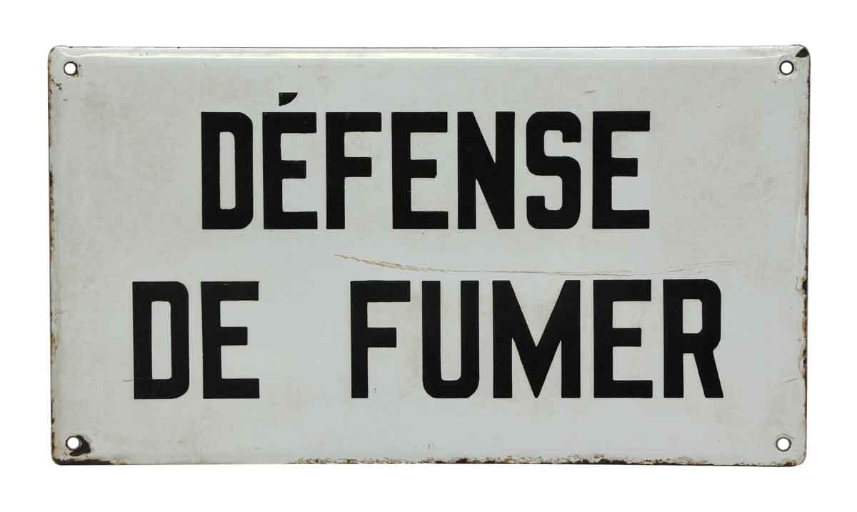 Defense De Fumer Sign Olde Good Things