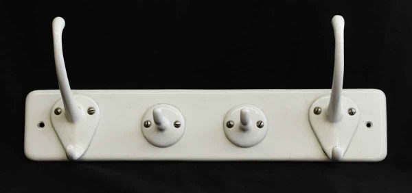 White Porcelain Four Hook Rack