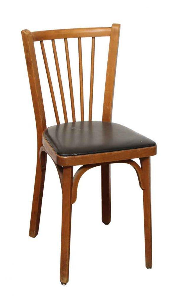 Baumann Wood Frame Chair with Black Seat