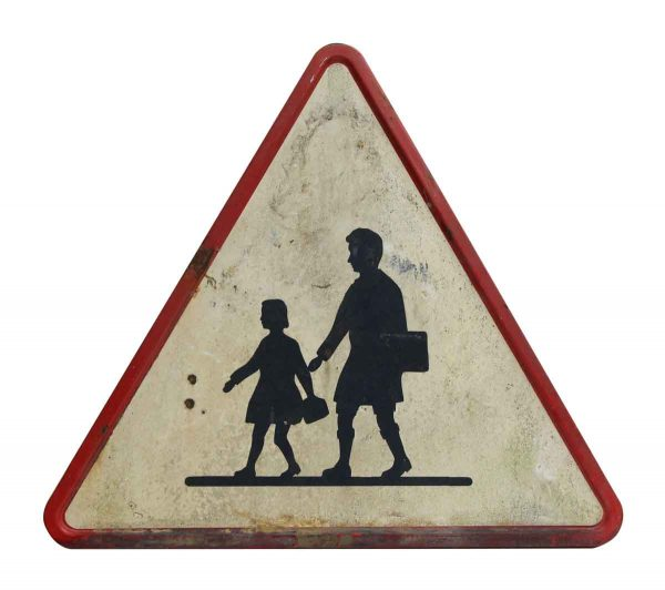 European School Crossing Sign
