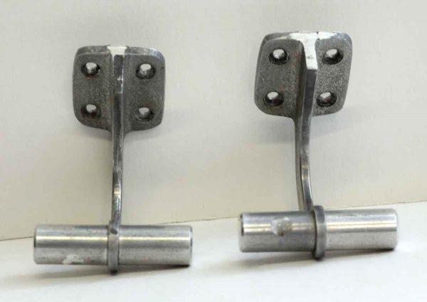 Pair of Small Vintage Aluminum Hooks