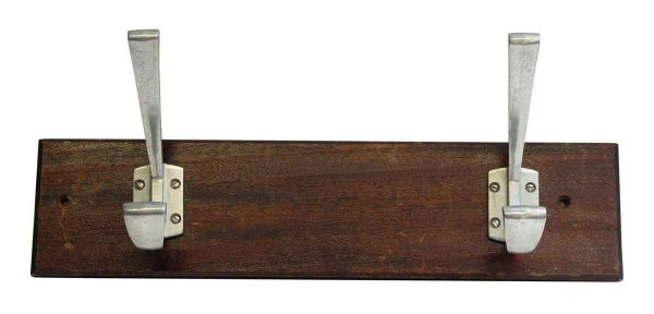 Pair of Aluminum Hooks on Plank