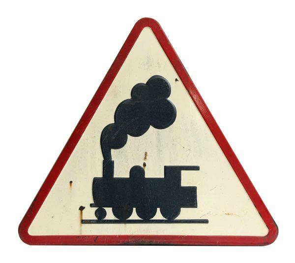 Triangular European Train Road Sign