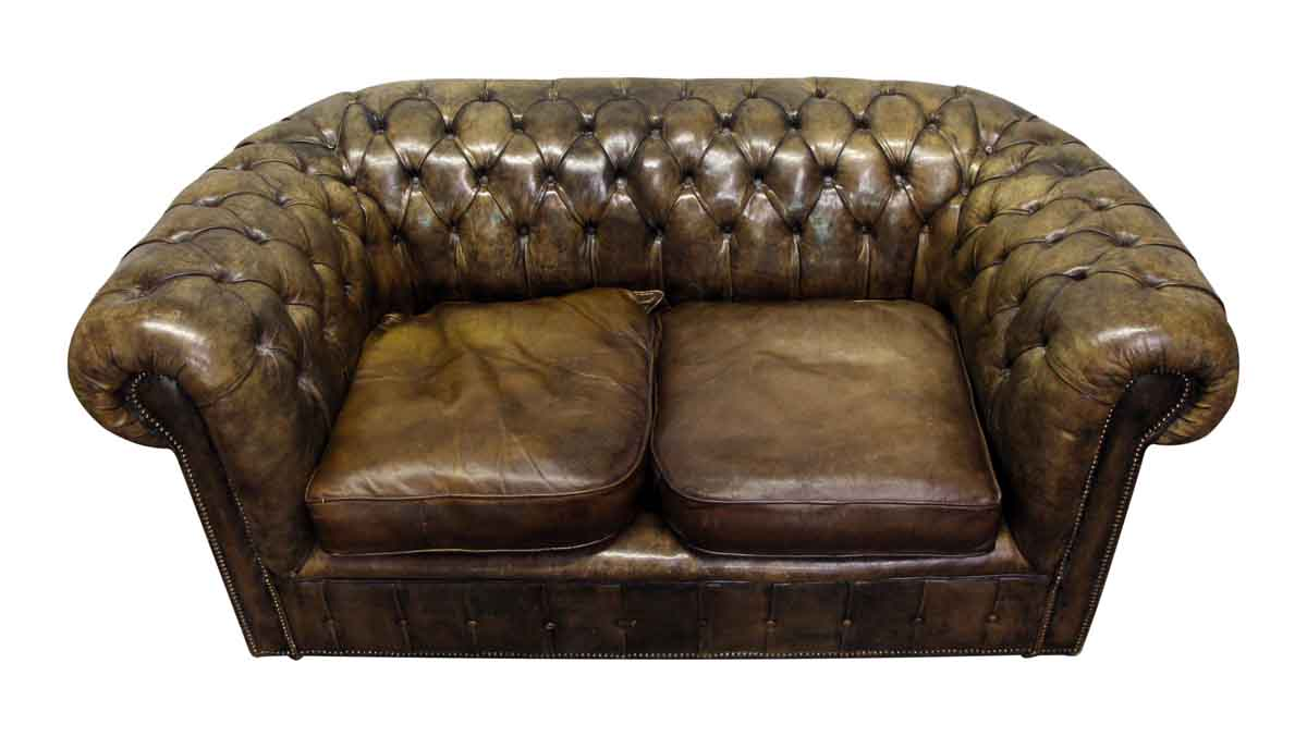 Brown Chesterfield Couch & Chair   Olde Good Things