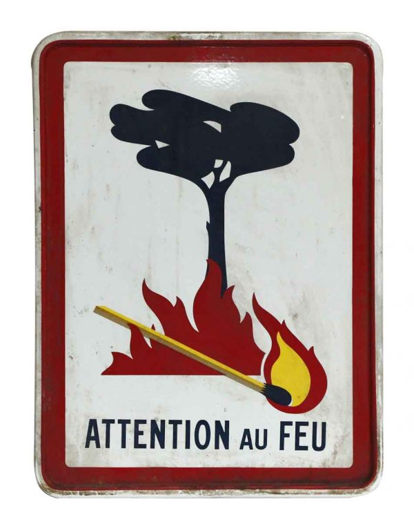 French No Fire Sign