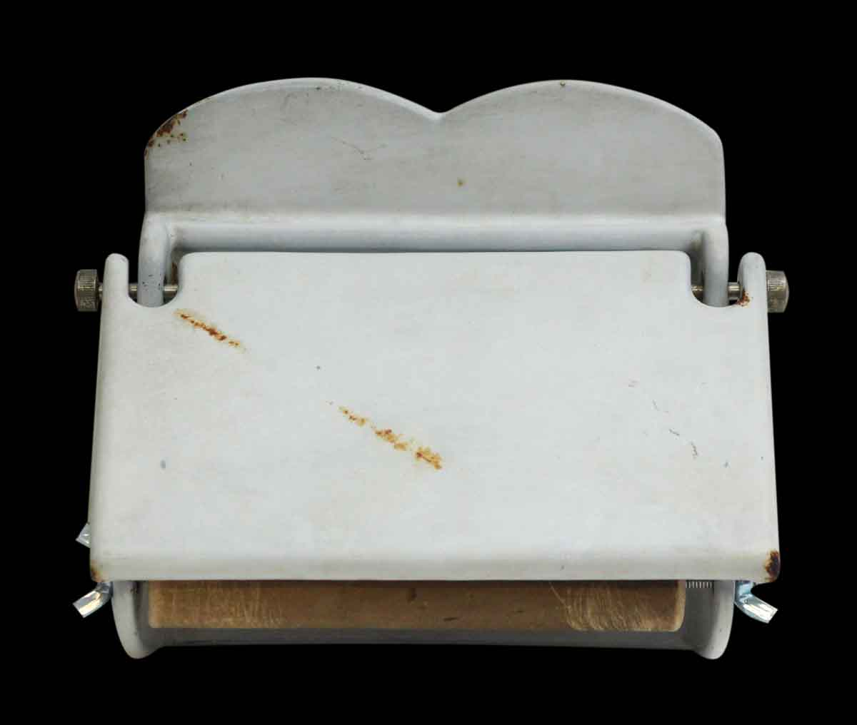 European White Toilet Paper Holder with Cover