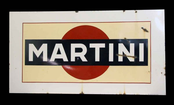 Large Metal Enamel Martini Sign