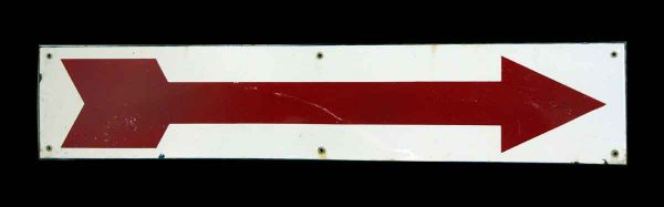 European Metal Red Arrow Sign