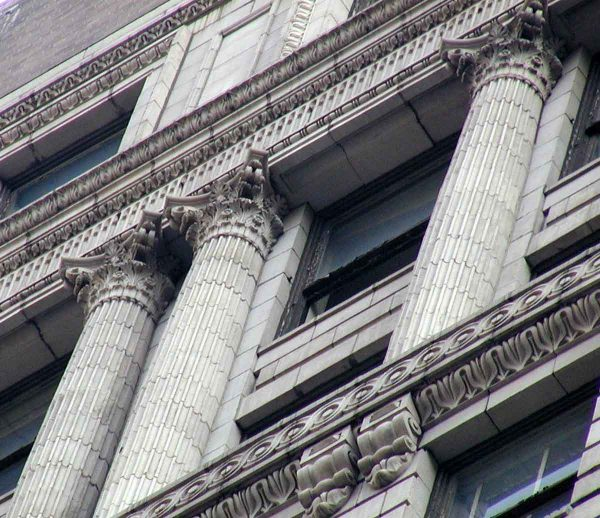 Exterior Fluted Terra Cotta Architectural Column Pilasters