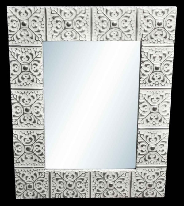 Large Snowflake 4.5 in. Tin Framed Mirror