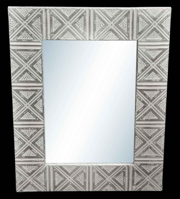 Triangle & Dot 4.5 in. Tin Framed Mirror