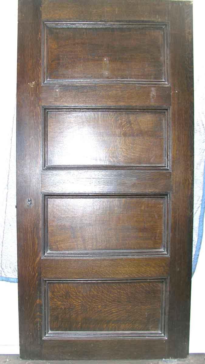short interior four panel quatersawn oak door olde good things