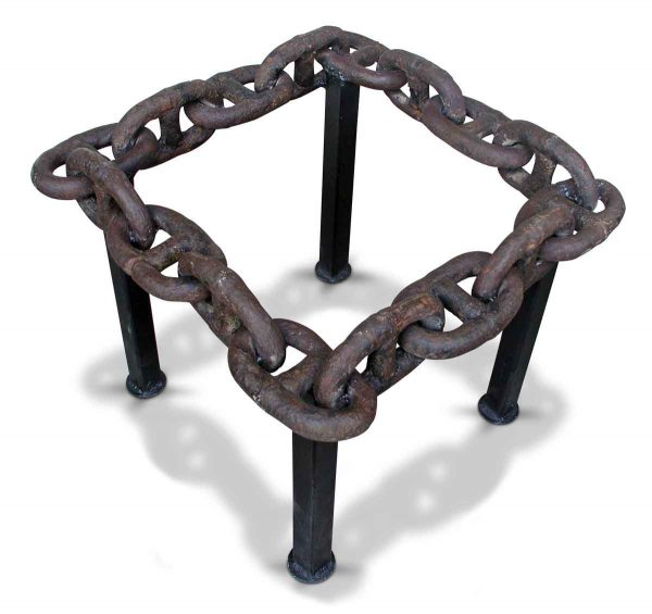 Antique Wrought Iron Nautical Chain Link Table
