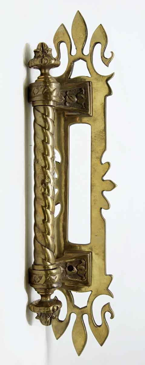 Ornate Door Pull with Letter Slot