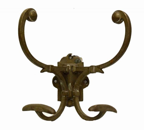 Ornate Bronze Hall Tree Hook from France