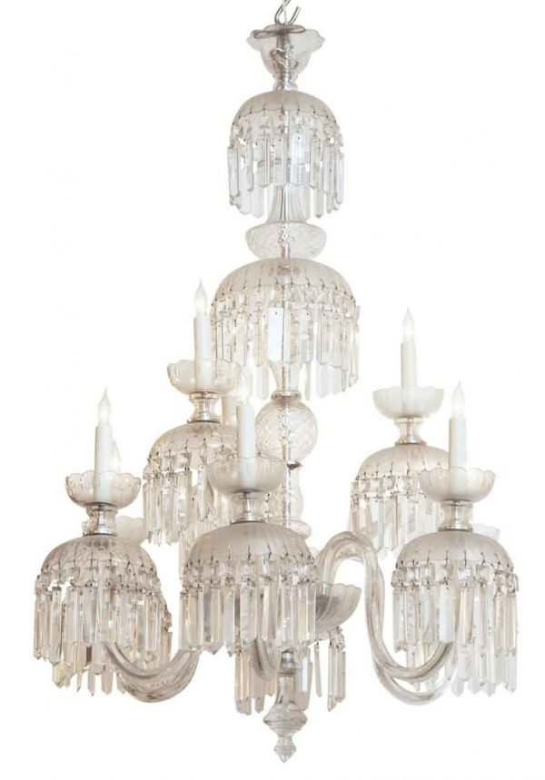 Late 19th Century French Made Crystal Chandelier