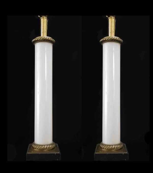 Opaline Glass Neo Classical Table Lamps