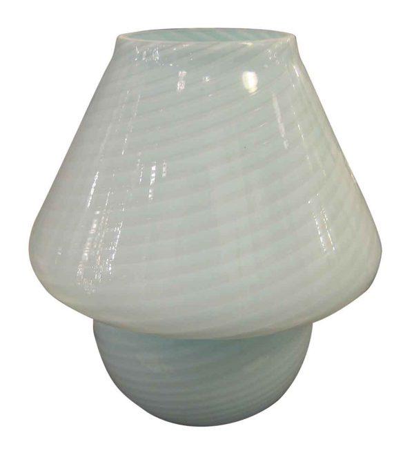 Blue Murano Glass Mushroom Table Lamp