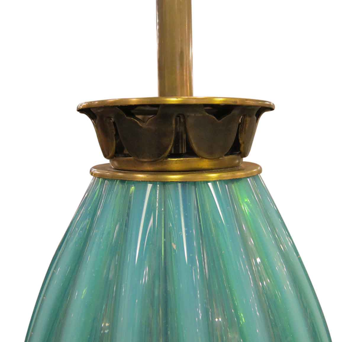 turquoise murano style glass lamp olde good things. Black Bedroom Furniture Sets. Home Design Ideas