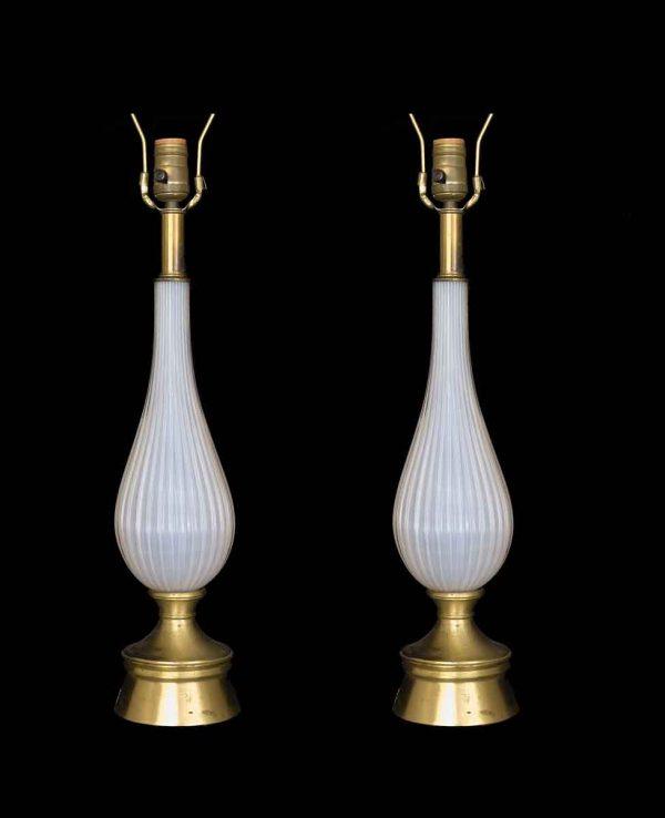 Pair of Italian Art Deco Murano Glass Lamps