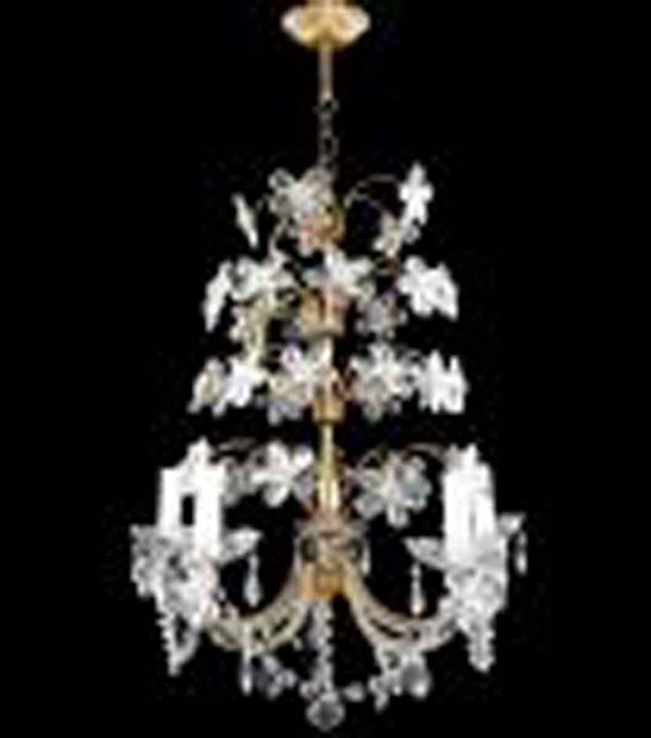 Floral Gold Crystal Bagues Chandelier