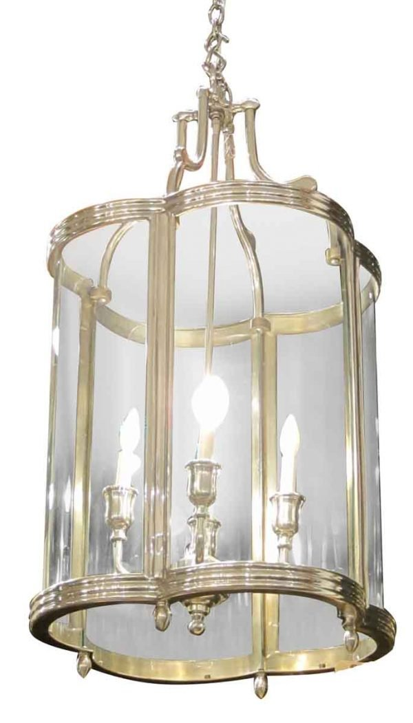 Quatrefoil Pendant Lantern with Curved Glass