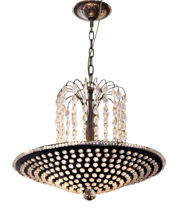 Jeweled Crystal Pan Pendant Light