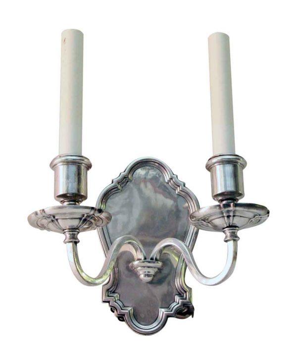 Single Silvered Bronze Georgian Sconce