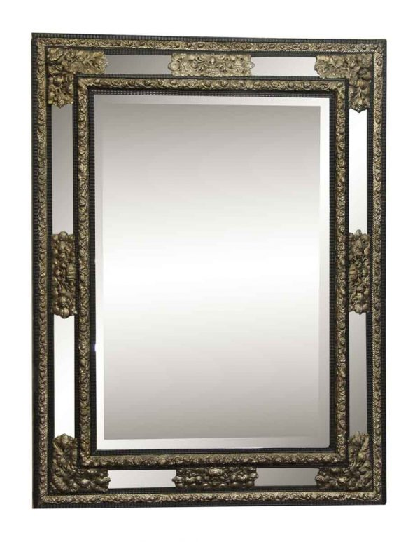 Highly Ornate Mirror with Beveled Glass