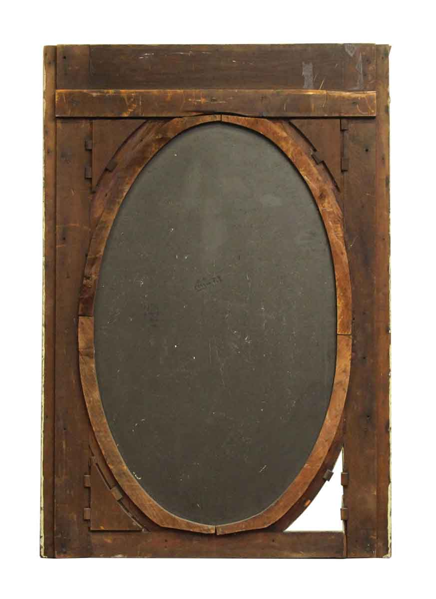 Green Wood Framed Mirror With Etched Detailing Olde Good