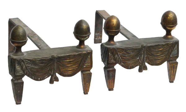 Pair of Deco Andirons