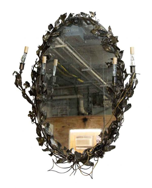 Napoleon Ii Style Mirror with Four Candle Sticks