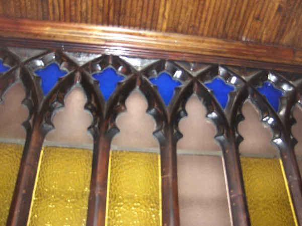 Gothic Style Wall Molding with Glass