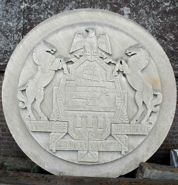 Pennsylvania Seal Frieze from Philadelphia Civic Center