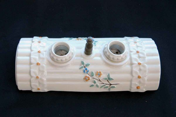 Ceiling Mount Floral Porcelain Light Fixture