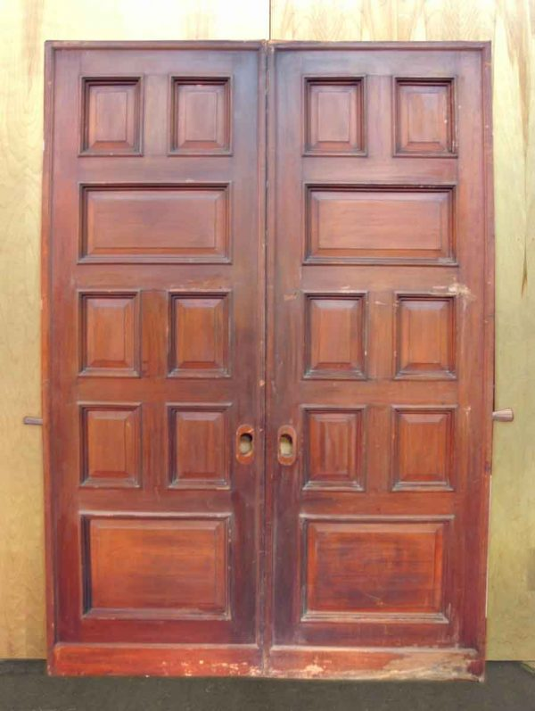 Mahogany & Quatersawn Oak Pocket Doors
