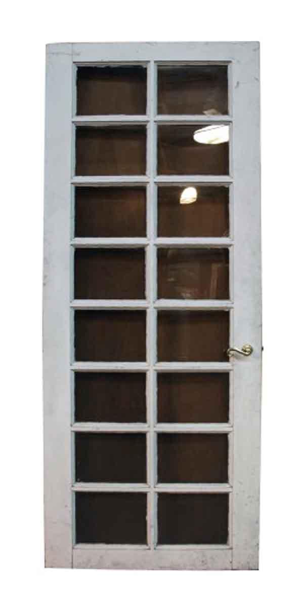 Single Vintage French Door with Sixteen Plexiglass Lites