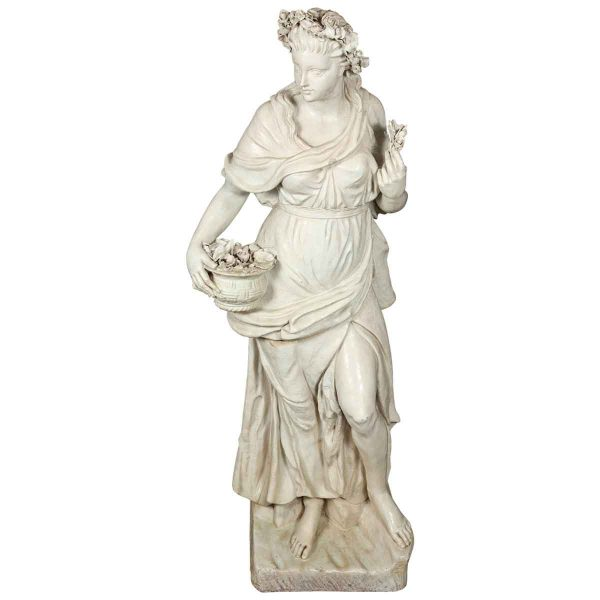 Italian Glazed Terra Cotta Statue