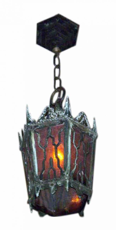 Cast Bronze Gothic Hanging Lantern