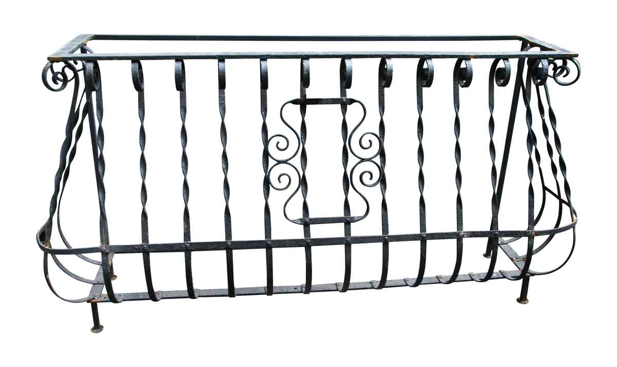 Console Table with Domestic Railing & Scrolls