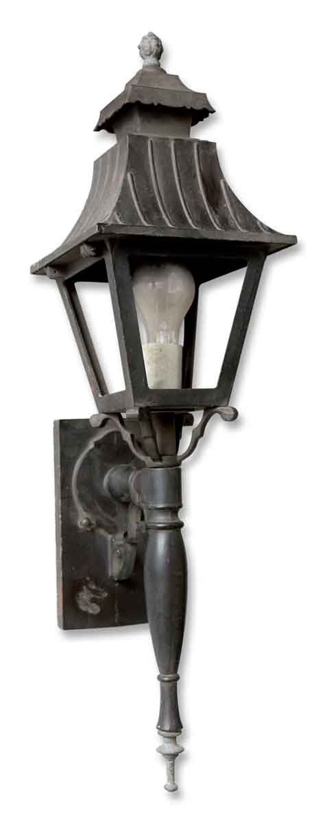 Exterior Black Lantern with Mounting Bracket