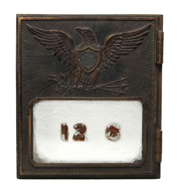 Old Bronze Mailbox Covers with Eagle